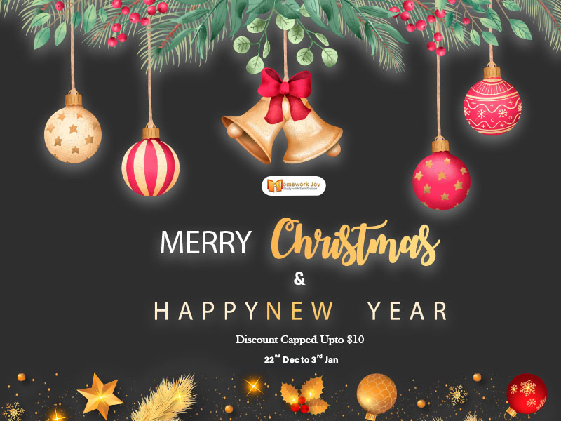 Christmas and happy new year deal at homework joy