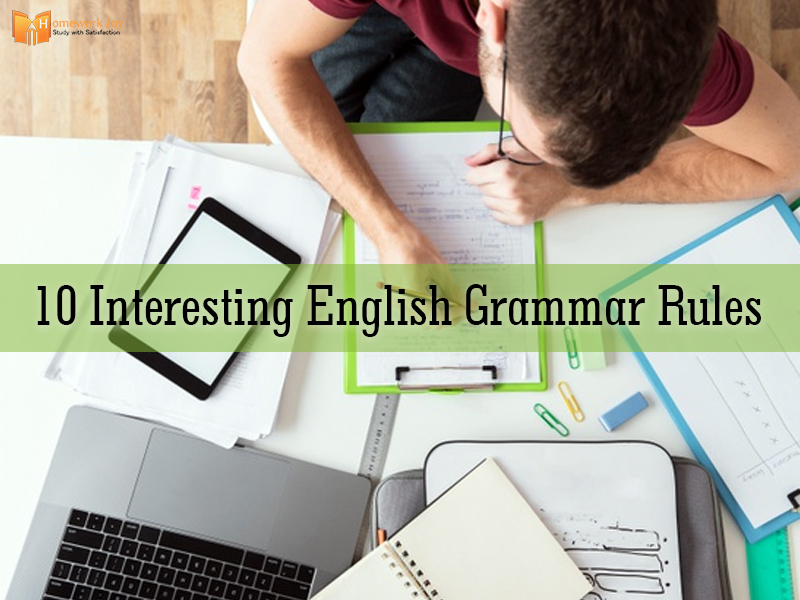 10 Interesting English Grammar Rules