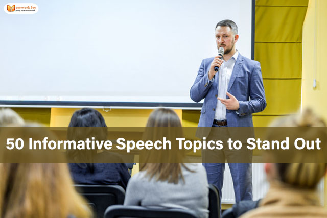 50 Informative Speech Topics to Stand Out 2