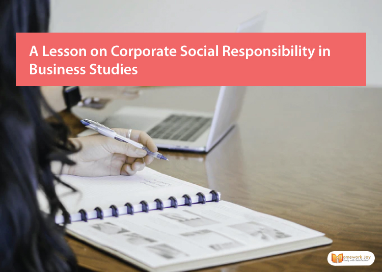 A Lesson on Corporate Social Responsibility in Business Studies