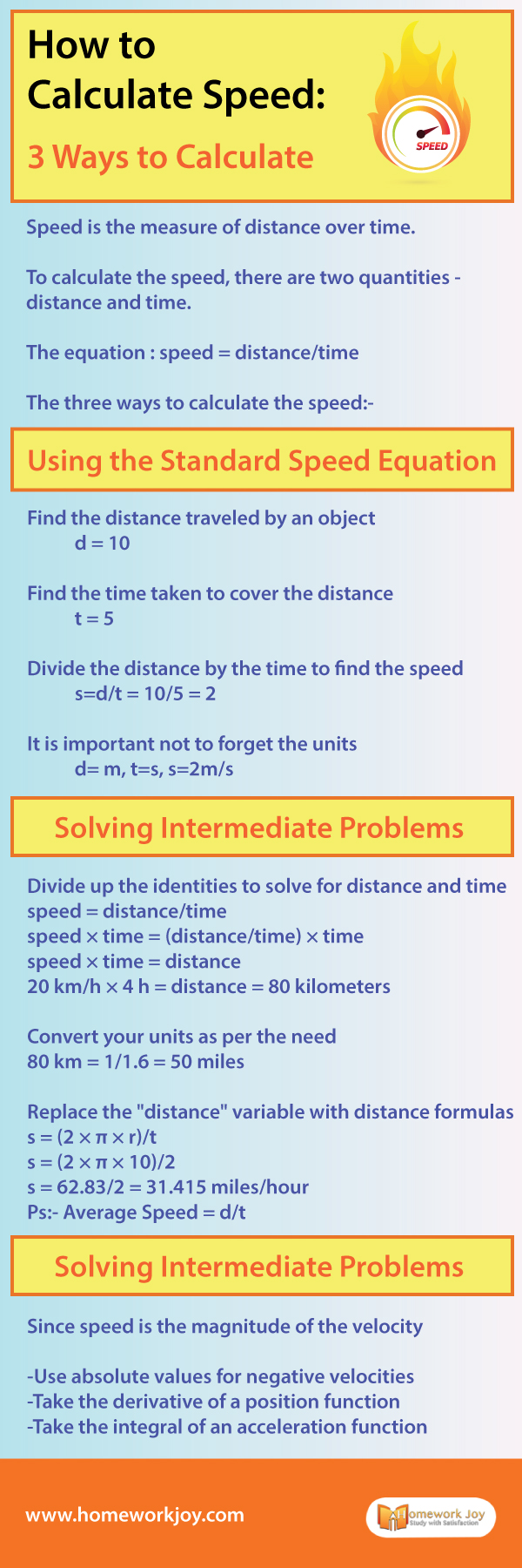 How to Calculate Speed